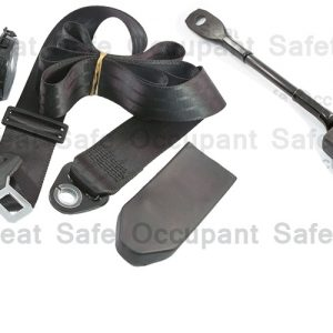 RETRACTABLE 3 BOLT HOLE LAP/SASH SEAT BELT AT 90º HIDDEN IN PILLAR WITH 250MM CABLE BUCKLE