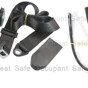 RETRACTABLE 3 BOLT HOLE LAP/SASH SEAT BELT AT 90º HIDDEN IN PILLAR WITH 450MM CABLE BUCKLE